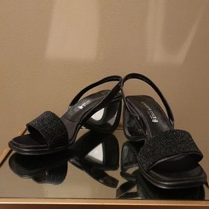 Kenneth Cole Black Mirrored Wedges